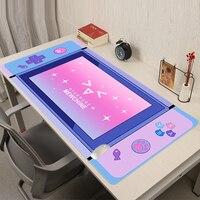 Alfombrilla de ratón de dibujos animados para Gaming, Accesorios para ordenador portátil, chica, Padmouse, alfombrilla de ratón grande, color rosa