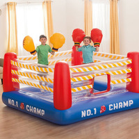 INTEX Children's Boxing Ring Jumping Music Trampoline Inflatable Playground Ocean Ball Pool 48250