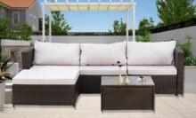 Мебель из ротанга патио мебель 2 частей на открытом воздухе