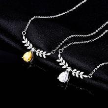 925 Серебряное ожерелье природный Аметрин топаз колье с подвеской