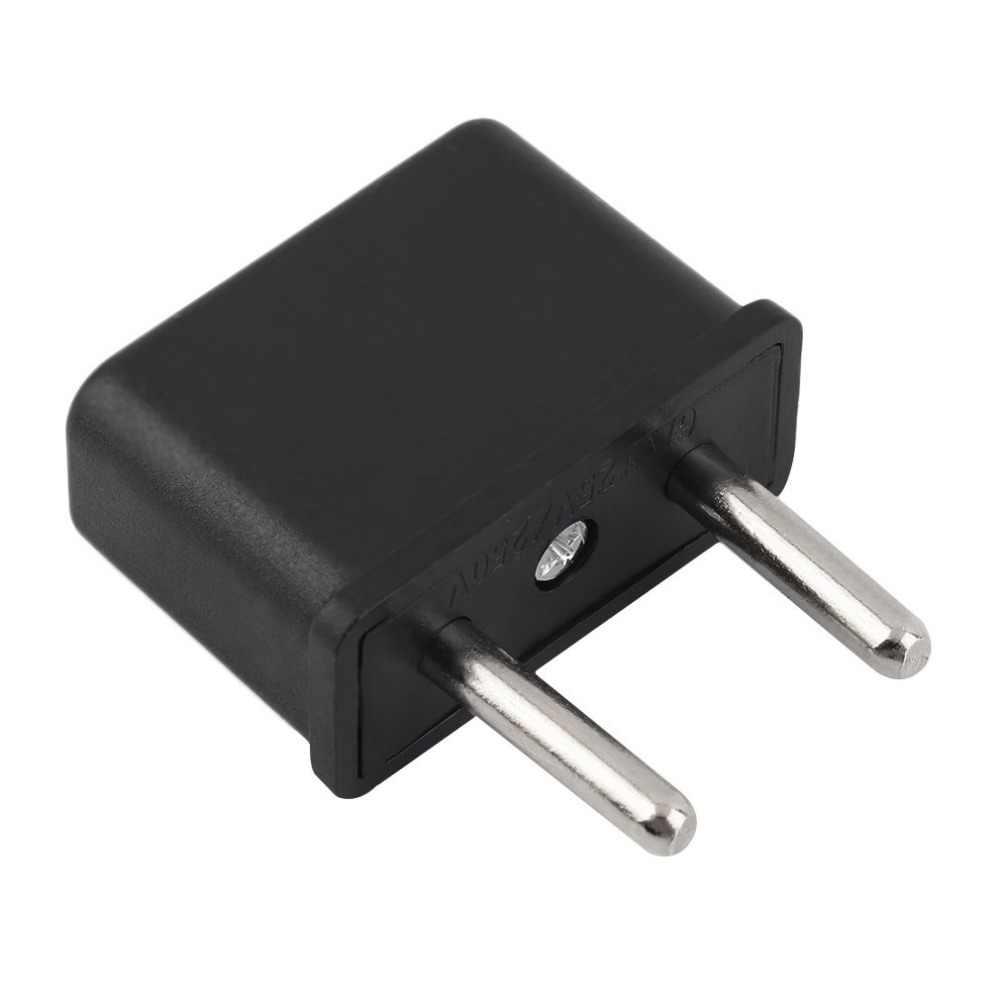 Универсальный США в ЕС вилка США в Европу 220 В путешествия Белая Стена AC зарядное устройство Выход адаптер конвертер 2 круглый контактный разъем
