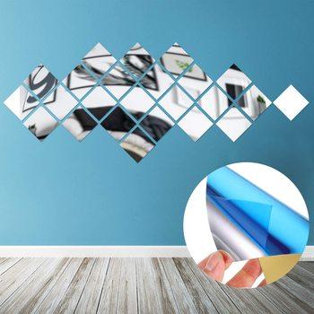 40 sztuk akrylowe kwadratowe naklejki lustro ścienne wklej na nawa restauracyjna podłoga salon osobowość lustra ozdobne tanie i dobre opinie CN (pochodzenie) Other Self-adhesive Mirror Decals