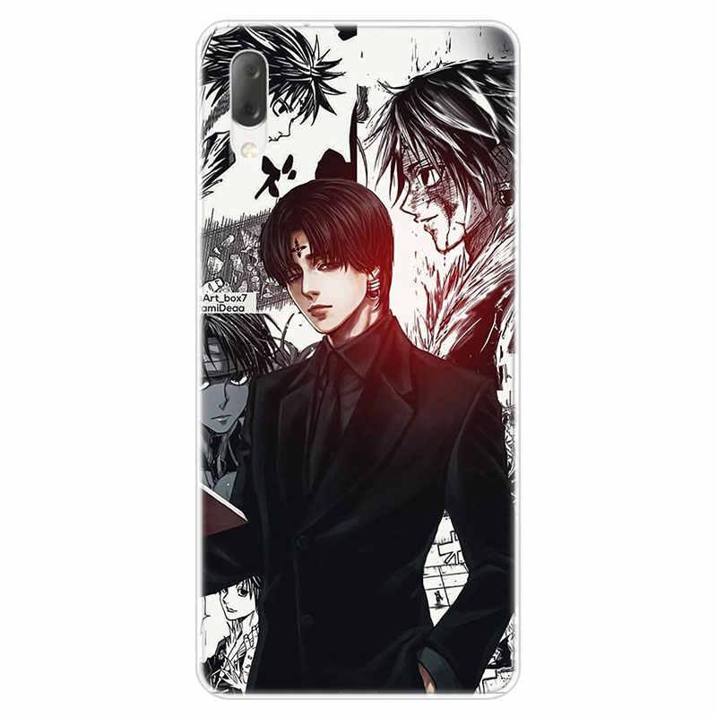 Anime Hunter X Hunter Hisoka skrzynka dla Sony Xperia L1 L2 L3 X XA XA1 XA2 Ultra E5 XZ XZ1 XZ2 kompaktowy XZ3 M4 Aqua Z3 Z5 Premium