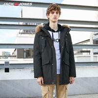 JackJones winter men's hooded cargo down jacket parka coat menswear streetwear 219312526