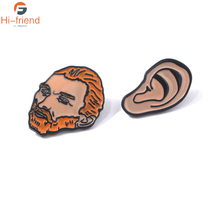 Celebrity Portrait Vincent Willem van Gogh Brooches Artist Van Gogh Enamel Pins Jewelry Denim Clothes Badges la oreja de van gogh yucatan