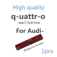 Высококачественная наклейка с эмблемой для Audi Quattro A3 A4 A5 A6 A7 A8 TT Q3 Q5 Q7 A1 B5 B6 B7 B8 B9 8P 8V 8L, боковая наклейка на багажник