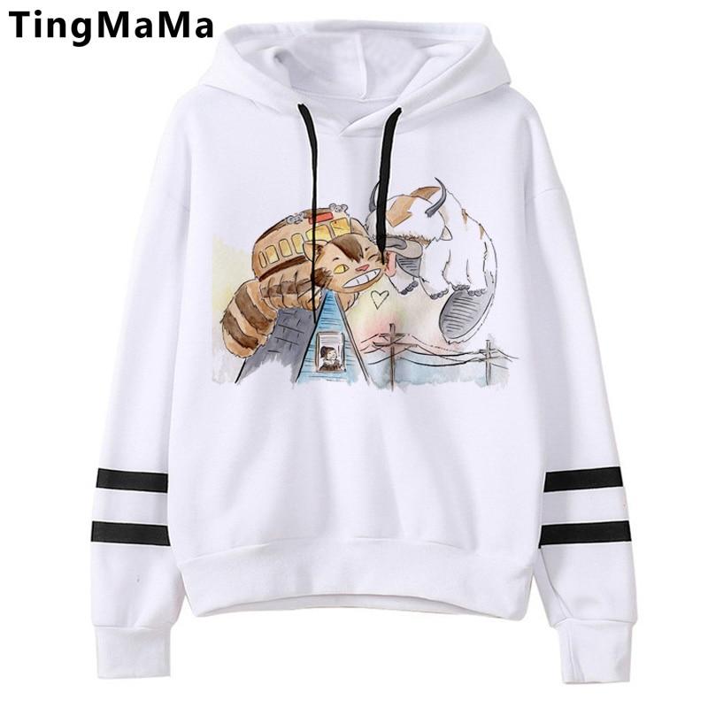 Kawaii Cartoon Avatar The Last Airbender Hoodies Men Harajuku Funny Appa Graphic Streetwear Harajuku Hot Anime Sweatshirts Male