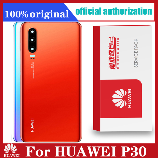 Original Back Housing Replacement for HUAWEI P30 Back Cover Battery Glass with Camera Lens adhesive Sticker