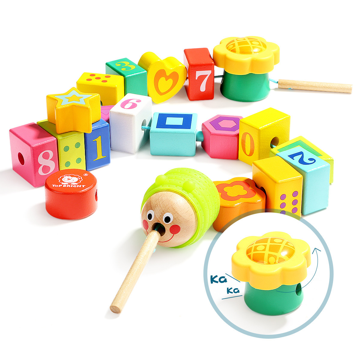 One Year Old Baby Educational GIRL'S And BOY'S CHILDREN'S Building Blocks Threading 3 Children Bead Toy 1-2 A Year Of Age Beads