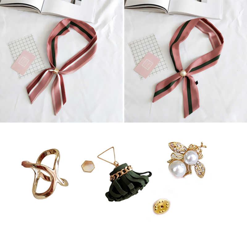 Baru Perhiasan Mutiara Imitasi Mutiara Dudukan Syal Syal Bros Klip Sutra Selendang Gesper Cincin Klip Perhiasan Hadiah Pesta Hadiah
