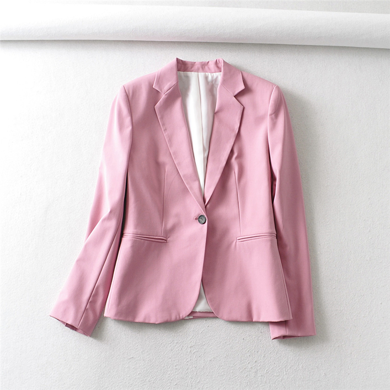 H416960d66710419cab45f8fabdc42008X - Autumn Women Pant Suits Pink Single Button Blazer Jacket+Zipper Trousers Office Ladies Suits Two Piece Set Female Outwear