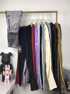 Новинка 2020, женские и мужские спортивные штаны с вышивкой в виде бабочки, повседневные штаны для бега, штаны в полоску