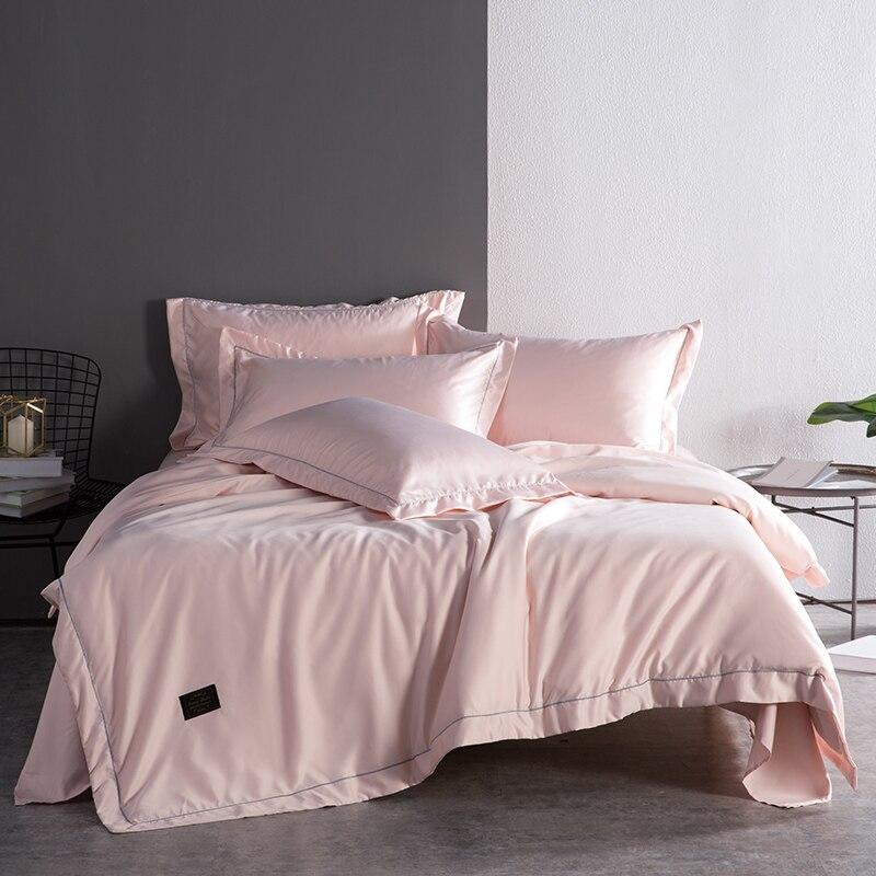 Ensemble de quatre pièces pour lit d'été, ensemble de quatre pièces en soie glacée européen soyeux, respectueux de la peau