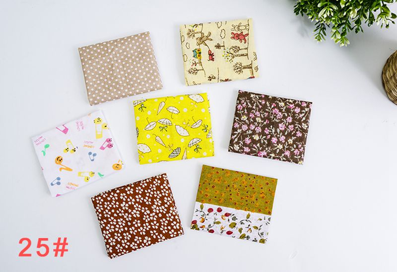 H416994261da047f7ac7986a12526aaa16 25x25cm and 10x10cm Cotton Fabric Printed Cloth Sewing Quilting Fabrics for Patchwork Needlework DIY Handmade Accessories T7866
