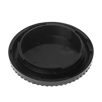 Rear Lens Body Cap Camera Cover Anti-dust Protection Plastic Black for Fuji FX X Mount image