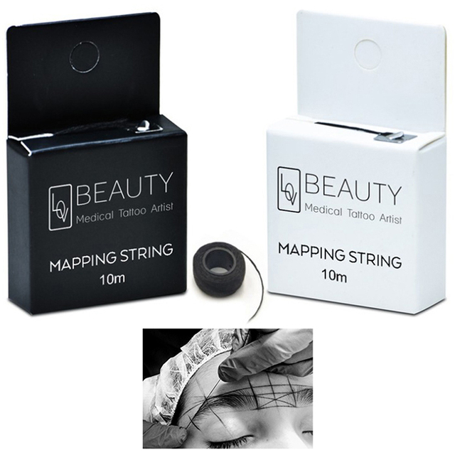 Pre-Inked Brow Mapping Strings Pigment String For Microblading PMU Accessories Brow Mapping Thread For Eyebrow Permanent Makeup