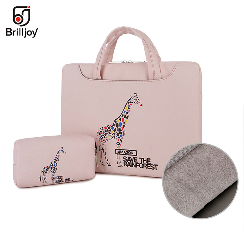 Brilljoy Scratch-proof Waterproof Laptop Briefcase Handbag For 13 14 15inch Cartoon Painted Travel Bag For Men And Women New