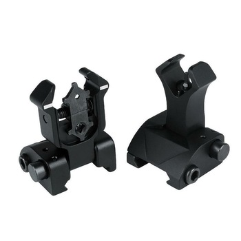 Фото - Tactical AR15 folding flip up front Rear Sight iron Sight set dual Diamond shape BUIS for 20mm rail Handguard mount folding tactical flip up sight rear front sight mount transition backup iron sight rapid rifle rts for paintball accessories