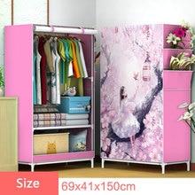 3D Cartoon wzór składana tkanina szafa główna sypialnia szafa na ubrania DIY montaż szafa do tkanin szafa meble