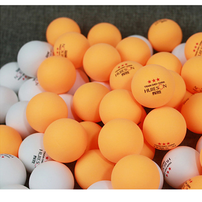 Huieson 50 100 Pcs 3-Star 40mm 2.8g Table Tennis Balls Ping Pong Ball New Material ABS Plastic Table Training Balls 2 Colors