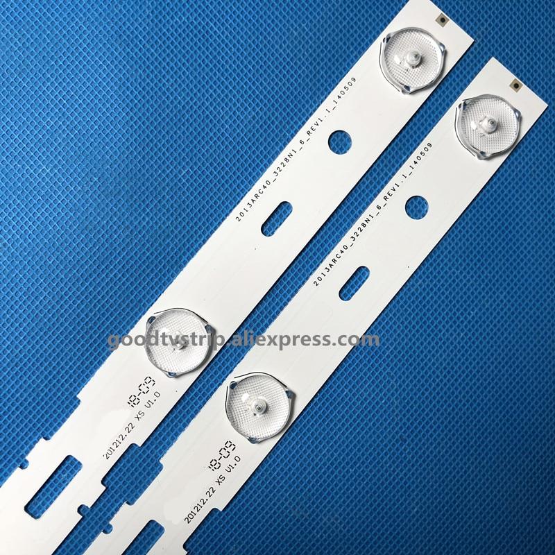 New Kit 8 PCS 5LED 428mm LED Backlight strip for TV 40VLE6520BL SAMSUNG_2013ARC40_3228N1 40 LB M520 40VLE4421BF-in LED Bar Lights from Lights & Lighting