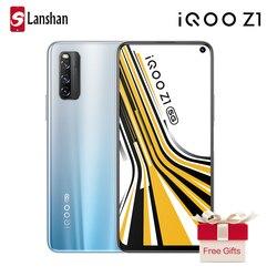 Оригинальный vivo IQOO Z1 двойной режим 5G мобильный телефон 4500 мАч большой аккумулятор 44 Вт флэш-Зарядка 6 ГБ 128 ГБ Распознавание отпечатков пальц...