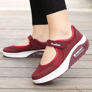 2021 New Casual Women Shoes Sneakers Mesh Light Lady Breathble Female Vulcanized Sneaker for