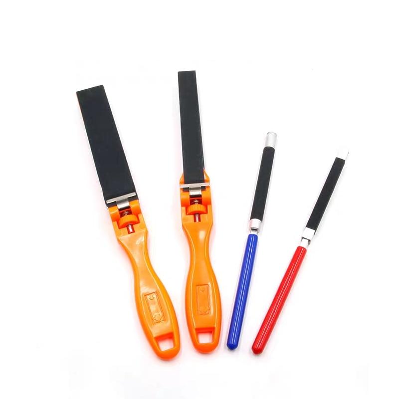 Sandpaper Ruler Plastic Jewelry Polishing Tools Abrasive Bar Grinding Stick Clip 1Pcs