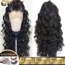 QT 180 Body Wave 360 Lace Frontal Wig Pre Plucked With Baby Hair Brazilian 13x4