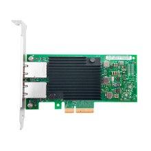 Сетевой адаптер с процессором Intel X550, медный адаптер PCIe 3,1 X8 RJ45 * 2 10G
