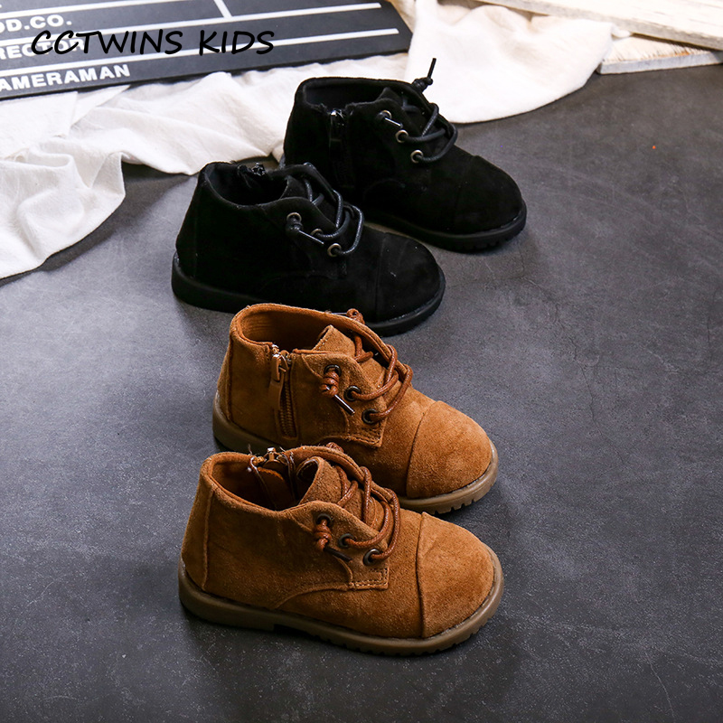 CCTWINS KIDS 2019 Autumn Children Fashion Martin Boots Boys Casual Black Breathable Shoe Girls Real Leather Booties Baby MB015(China)
