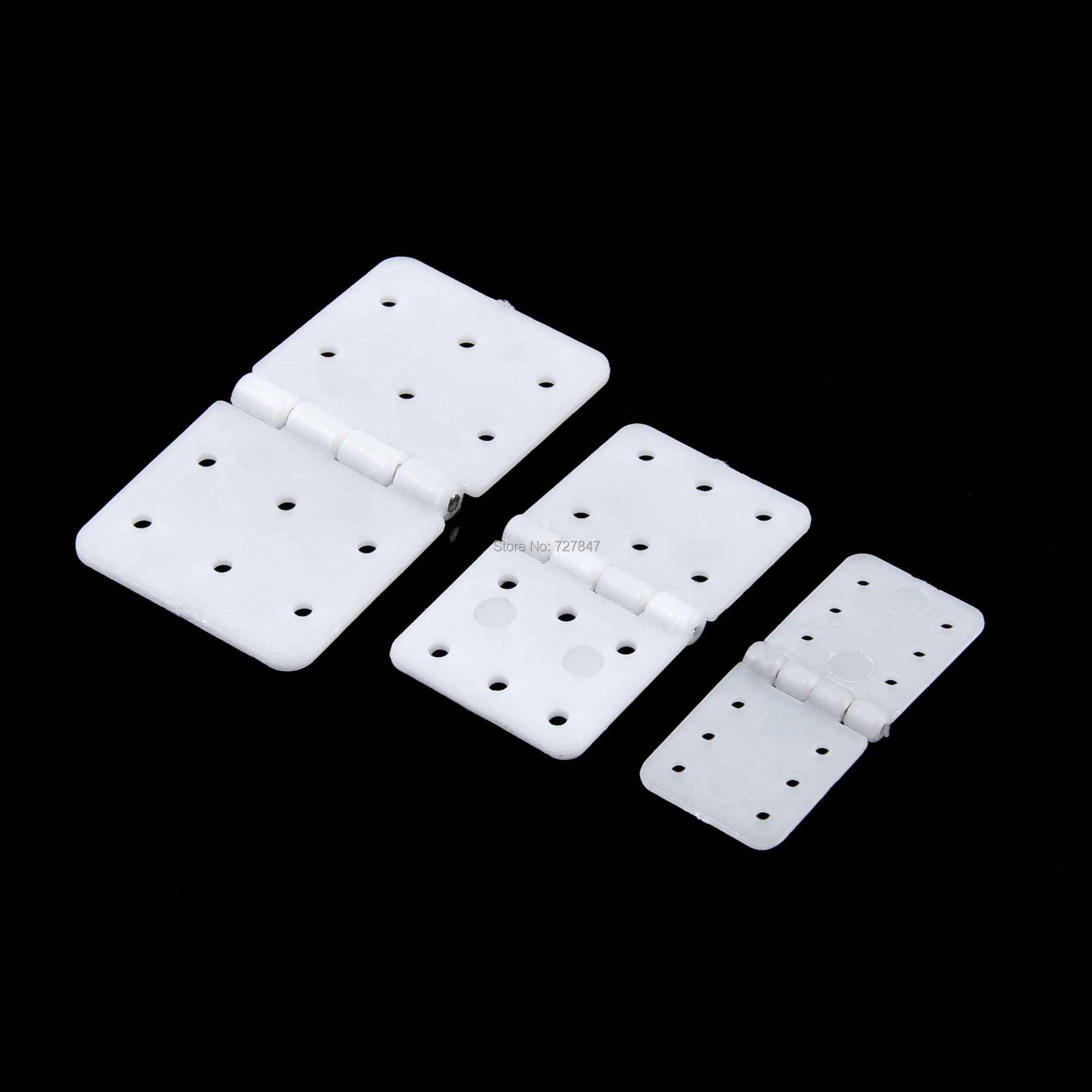 20pcs 30pcs 40pcs Nylon & Pinned Hinge 20x36mm / 16x29mm / 12x24mm For RC Airplane Plane Parts Model Replacement