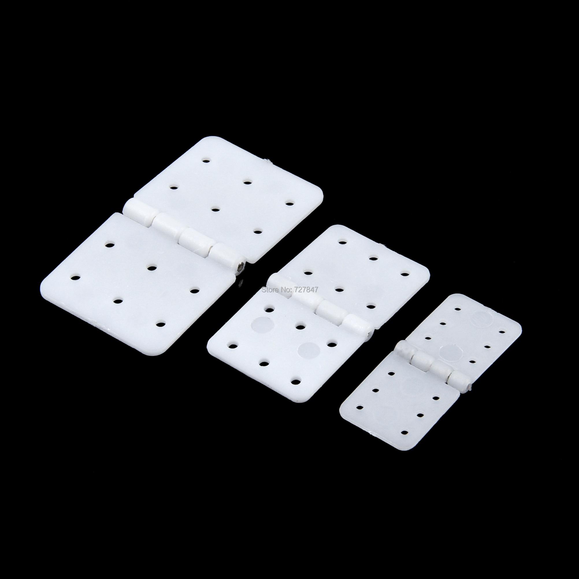 20pcs 30pcs 40pcs Nylon & Pinned Hinge 20x36mm / 16x29mm / 12x24mm For RC Airplane Plane Parts Model Replacement