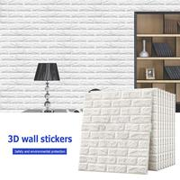 3D Wall Stickers Brick Pattern Waterproof Self adhesive Wallpaper Room Home Decor for Kids Bedroom Living Sticker
