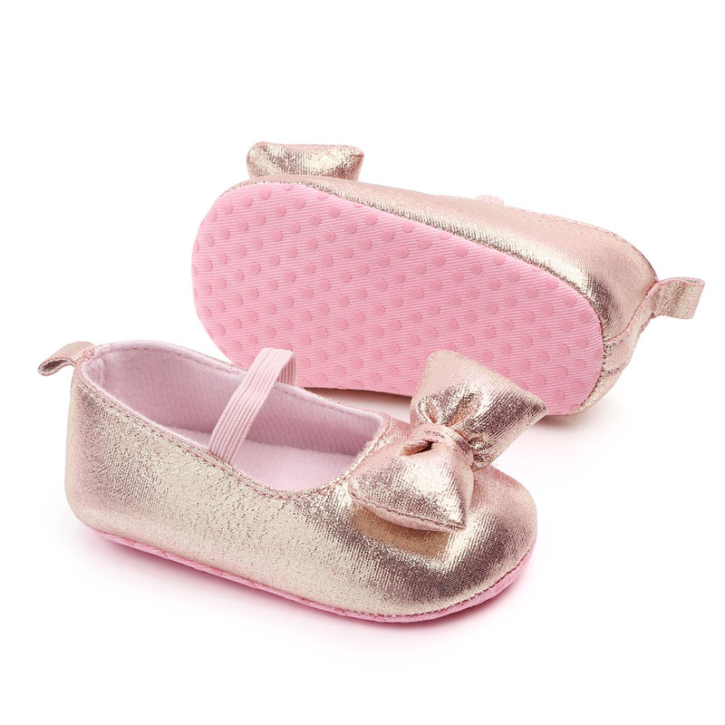 Todddler Baby PU Leather Baby Boy Girl Baby Moccasins Shoes Bow Fringe Soft Soled Non-slip Footwear Crib Princess Shoes