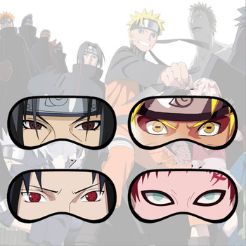 Anime Naruto Sharingan Eye Mask Uzumaki Naruto Sasuke Itachi Gaara 4pcs Fashion Eye Shield Cospaly Accessories Prop image