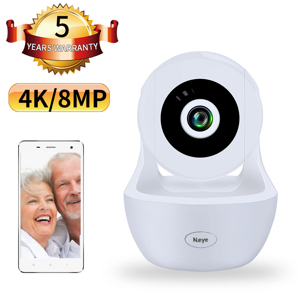 N_eye 8MP 4K Wifi Wireless Home Security IP Camera 2.0MP IR Network CCTV Surveillance Camera With Two-way Audio Baby Monitor
