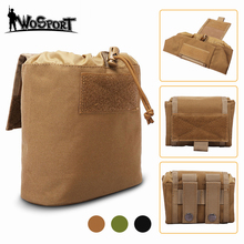цена на Tactical Foldable Molle Dump Pouch Ammo Drop Pouch Recovery Magazine Pack Outdoor Hunting Waist Pouch Utility Tool Accessory Bag