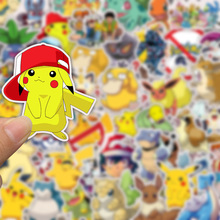 50 PCS Large Pack America Europe Animation and Pokemon Pikachu Cartoon Waterproof PVC Stickers for Laptop Helmet Bicycle Bottle
