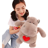 Fancytrader 20'' Soft Plush Hippo Toys Giant Stuffed Animals Hippo Pillow Doll Cartoon Hippopotamus Plush Toy 50cm 3 Colors