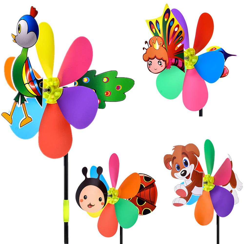 21inch Colorful Plastic Windmill Toys Pinwheel Self-assembly Windmill Children's Toy Home Garden Yard Decor Outdoor Gifts