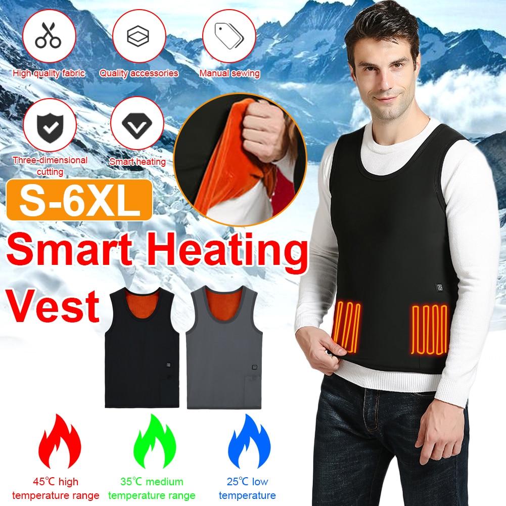 Жилет с подогревом куртка usb зимняя электрическая безрукавка