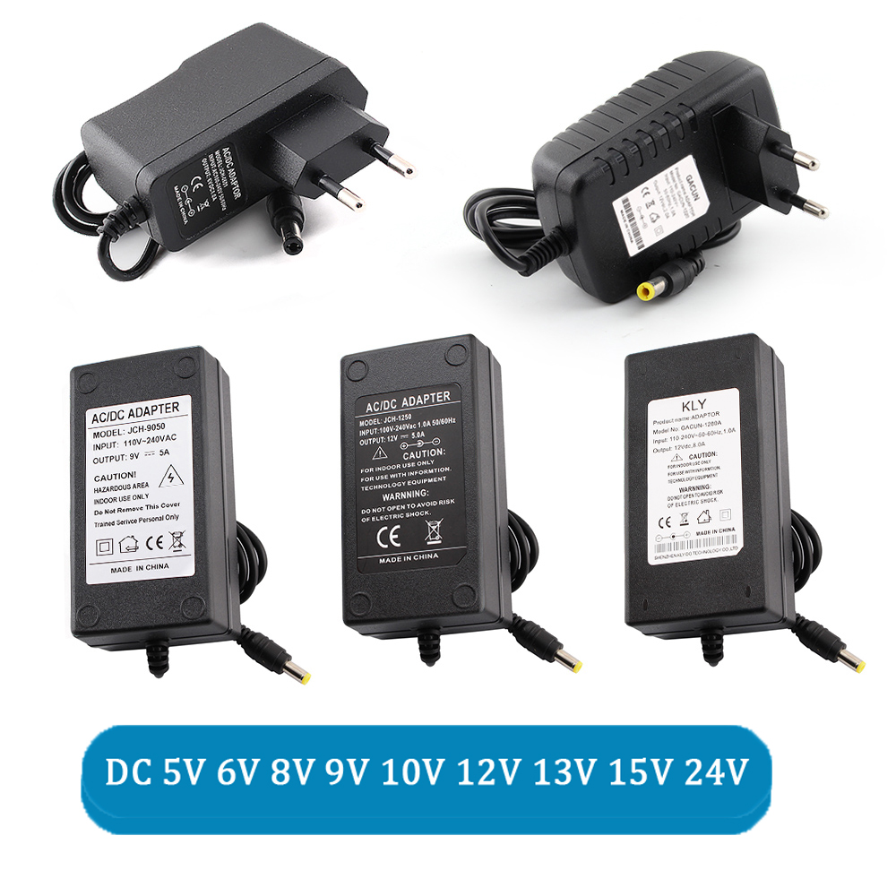 AC DC 5V <font><b>6V</b></font> 8V 9V 10V 13V 14V 15V 24V Power Supply 12V Adapter 1A 2A 3A 5A 6A 8A 220V To 12V 5V Power Supply <font><b>LED</b></font> Adapter <font><b>Driver</b></font> image