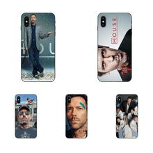 For Apple iPhone 4 4S 5 5S SE 6 6S 7 8 Plus X XS Max XR Print Mobile Phone Shell Dr Gregory House Hugh Laurie Brain Design