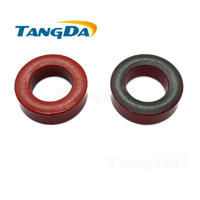 T80 2 Iron Power Coresเหนี่ยวนำT80 2 20.3*12.7*6.35มม.สีแดง/สีดำเคลือบแหวนเฟอร์ไรต์coreกรอง2 TANGDA Q
