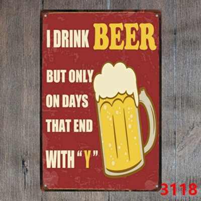 البيرة القصدير تسجيل لوحة معدنية خمر حانة معدن طريف تسجيل لوحة جدار ديكور لشريط حانة نادي رجل كهف اللوحة الزخرفية الحديد
