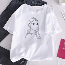 Women's T-shirt O-Neck Short Sleeve Charli DAmelio Ice Coffee Splash Harajuku Graphic T-shirt Girl T-shirt