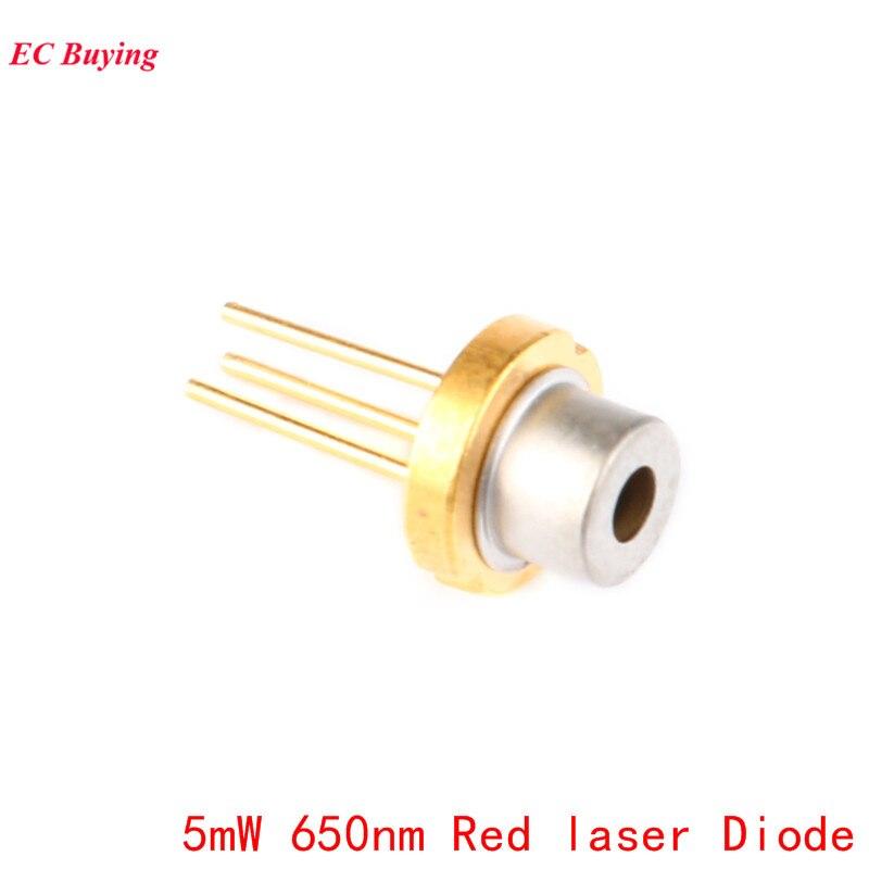 5 pces 5mw 650nm laser vermelho diodo sensor módulo laser 650nm diodos diy 5mw led design eletrônico