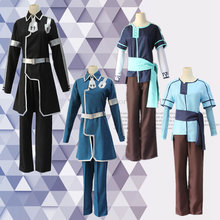 New Japanese Anime Sword Art Online Alicization Kirigaya Kazuto Cosplay Costumes Outfits Black Uniforms For Halloween Party(China)