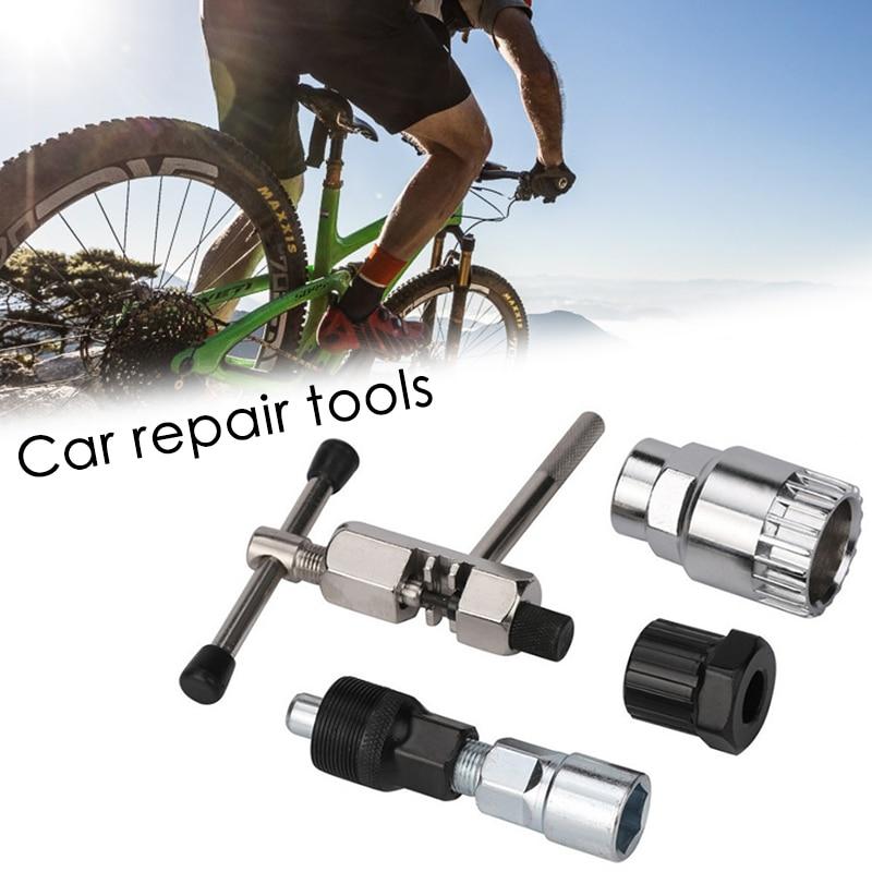 4 PCS אופניים תיקון כלי סטי ערכות שרשרת כננת גלגל Extractor דוושת Remover פולר כלי חיצוני רכיבה על אופניים MTB אופני סרן מסיר